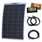 120W 12V Reinforced semi-flexible dual battery solar charging kit