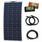 160W 12V Reinforced semi-flexible dual battery solar charging kit