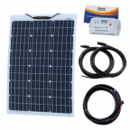 60W 12V Reinforced Semi-flexible solar charging kit