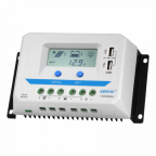 30A 12/24/36/48V solar charge controller / regulator with LCD display and powerful dual USB output (2.4A)