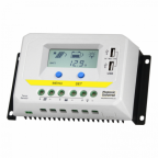30A 12/24V solar charge controller / regulator with LCD display and powerful dual USB output (2.4A)