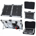 40W 12V folding solar charging kit for motorhome, caravan, boat or any other 12V system - German solar cells
