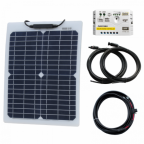 20W 12V Reinforced Semi-flexible solar charging kit