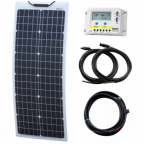 50W 12V Reinforced narrow semi-flexible solar charging kit