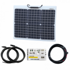 30W 12V Reinforced Semi-flexible solar charging kit