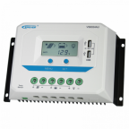 60A 12/24V solar charge controller / regulator with LCD display and powerful dual USB output (2.4A)