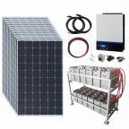 3.6kW 48V Complete Off-grid solar power system with 12 x 300W solar panels, 5kW hybrid inverter and a 24kWh battery bank