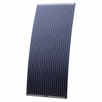 180W Black Reinforced semi-flexible solar panel with round rear junction box and 3m cable, with durable ETFE coating (German solar cells)