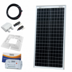 40W 12V solar charging kit with 10A controller, mounting brackets and cables