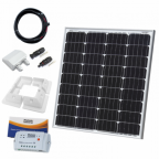 80W 12V solar charging kit (GERMAN solar cells) with 10A controller, mounting brackets and cables