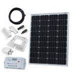 100W 12V solar charging kit (GERMAN solar cells) with 10A controller, mounting brackets and cables