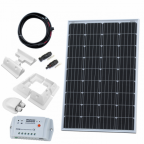120W 12V solar charging kit (GERMAN solar cells) with 10A controller, mounting brackets and cables