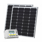 160W (80W+80W) solar charging kit with 20A charge controller with LCD display and  2 x 5m cables (German solar cells)
