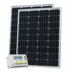 200W (100W+100W) solar charging kit with 20A controller with LCD display and  2 x 5m cables (German solar cells)