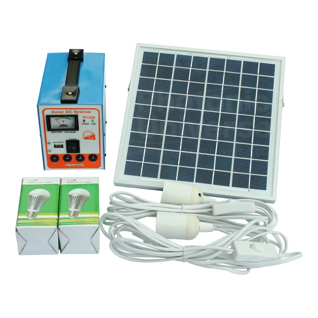 6W Solar Panel LED Lighting Kit With Battery For Shed