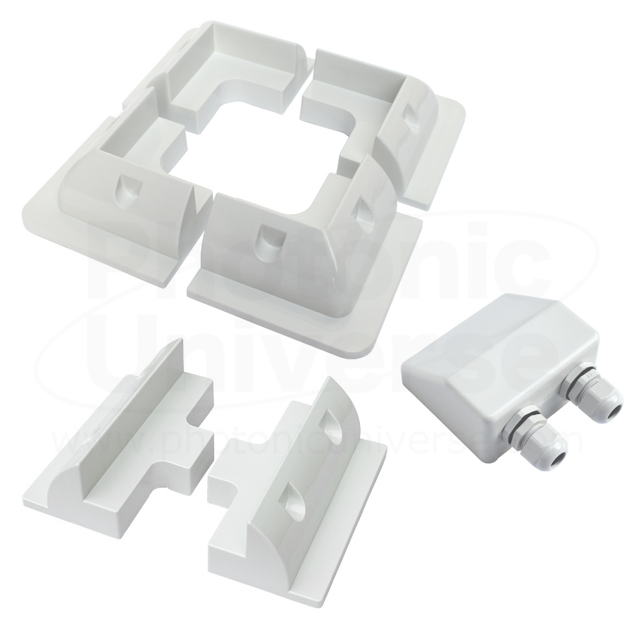 Solar Panel Corner And Side Mounting Brackets With Cable