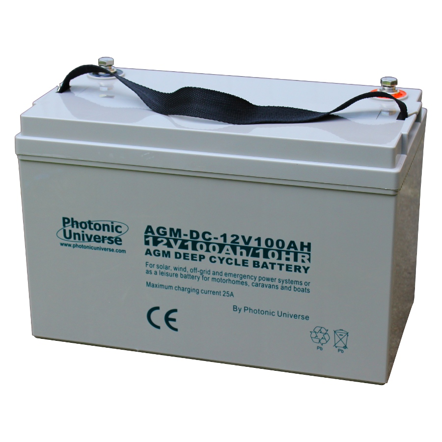 100ah 12v deep cycle agm battery for leisure solar wind. Black Bedroom Furniture Sets. Home Design Ideas