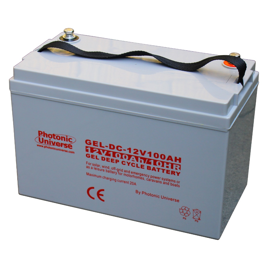 100ah 12v gel deep cycle battery for motorhome caravan