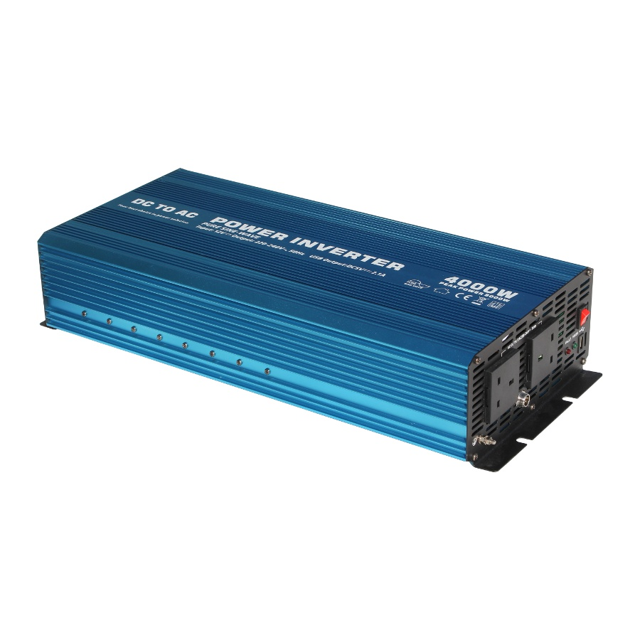 4000w 12v pure sine wave power inverter 230v ac off grid with remote switch ebay. Black Bedroom Furniture Sets. Home Design Ideas