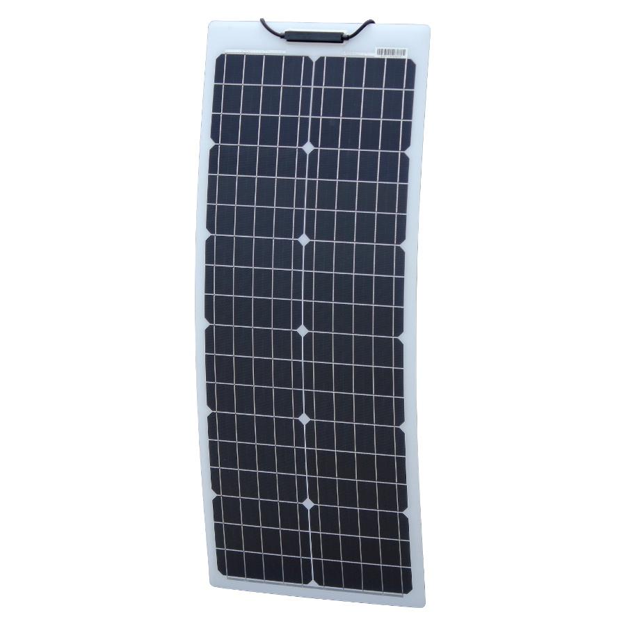 50W 12V Aluminium Reinforced Narrow Flexible Solar Kit for motorhome camper boat