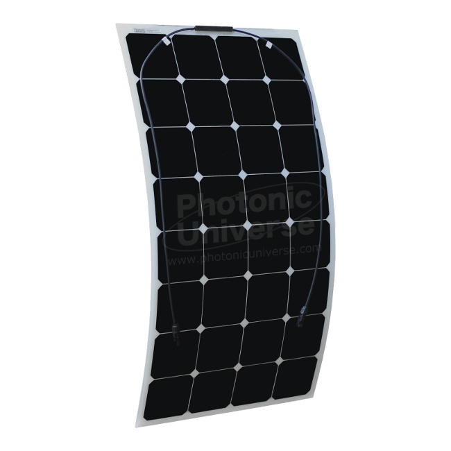 Flexible 100W solar panel made of back-contact solar cells (Photonic ...