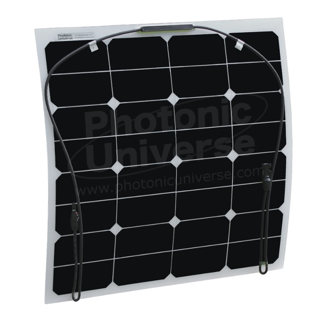 50W flexible solar panel made of back-contact solar cells (Photonic ...
