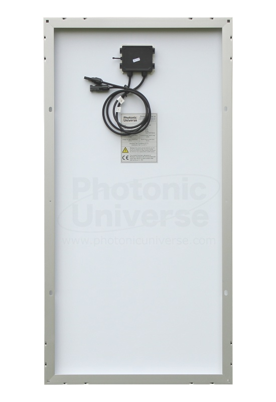 100W solar panel made of back-contact solar cells (Photonic Universe)