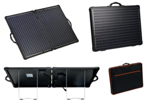 Our new exciting range of lightweight folding solar kits in stock now
